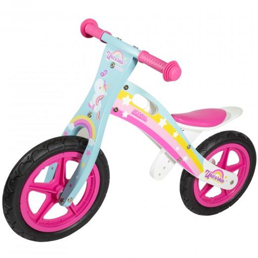Bici sin pedales de madera unicornio WOOMAX