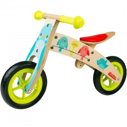 Bici sin pedales madera pajaritos WOOMAX