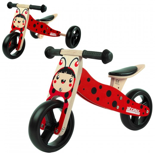 Triciclo de madera 2 en 1 WOOMAX