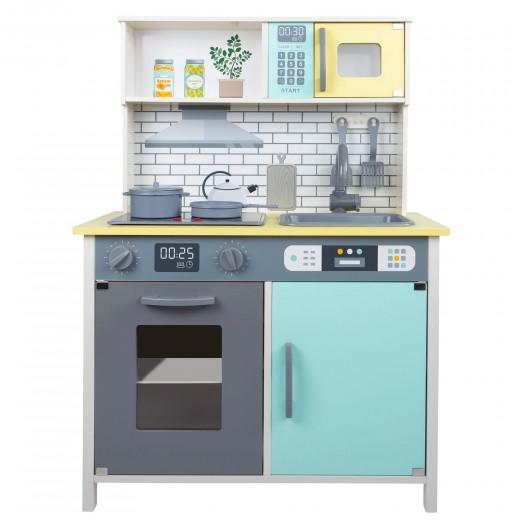 Cocina juguete madera con accesorios Azul 65x30x90 cm Teamson