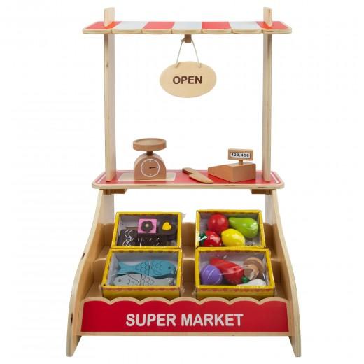Supermercado juguete madera con accesorios WOOMAX