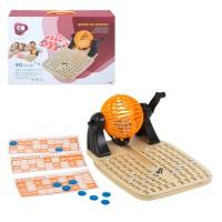 Bingo de madeira com acessórios jogos de mesa CB Games