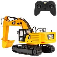 Excavadora radiocontrol CAT juguete con luz y sonidos 1:24