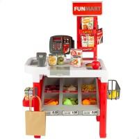 Supermercado brinquedo com acessórios, luz e som Funville