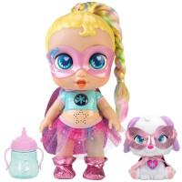 Super Cute Muñeca superheroína Regi con mascota y accesorios