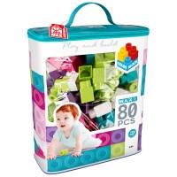 Construcciones para niños juego construcción bolsa 80 piezas Maxi Color Block