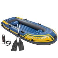 Barca hinchable Intex Challenger 3/remos alum. 295 x 137 x 43 cm