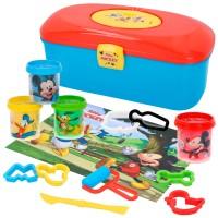 Kit caja plastilina Mickey con 4 botes de 114 g, accesorios y tapete Disney