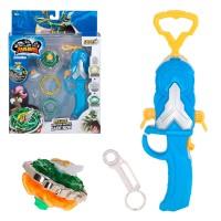Peonza Infinity Nado 5 Jade Bow con lanzador magnético giratorio