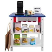Supermercado juguete madera con accesorios WOOMAX 48x30x70 cm