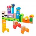 Juegos bloques animales de madera 32 piezas WOOMAX