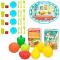 Cesta de la compra con 34 accesorios de cocina CB Toys