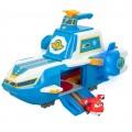 Portaviones Mundial Super Wings Super Charge con figura Jett transformable