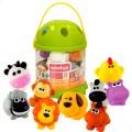 Juego 10 animalitos terrestres de goma para el baño Winfun