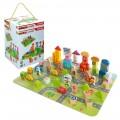 Juego bloques de madera 100 piezas ciudad Play&Learn