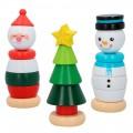 Puzle vertical madera 3 figuras navidad WOOMAX 18 piezas