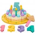 Tarta cumpleaños de madera con accesorios WOOMAX