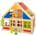 Casa de muñecas madera con muebles WOOMAX