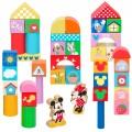 Bloques de madera para bebés bote 40 piezas Disney WOOMAX