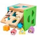 Cubo 13 piezas encajables madera WOOMAX Disney