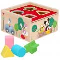 Cubo 4 formas encajables madera WOOMAX Disney