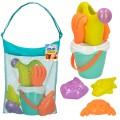 Set de playa con cubo y accesorios Color Beach