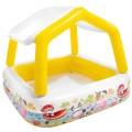 Piscina hinchable infantil cuadrada Intex con toldo extraíble | Piscinas hinchables para bebés en Distria