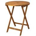 Mesa dobrável redonda de madeira de acácia Aktive | Distria