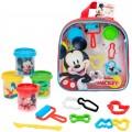 Kit mochila Mickey con 4 botes plastilina de 57 g con accesorios Disney