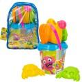 Momonsters Mochila con cubo de playa y accesorios