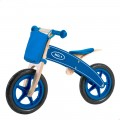 Bicicleta sin pedales de madera con cesta