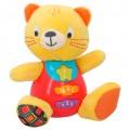 Peluche gato para bebés que habla & luces de colores - idioma: español