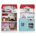 Cocina casa de muñecas 2 en 1